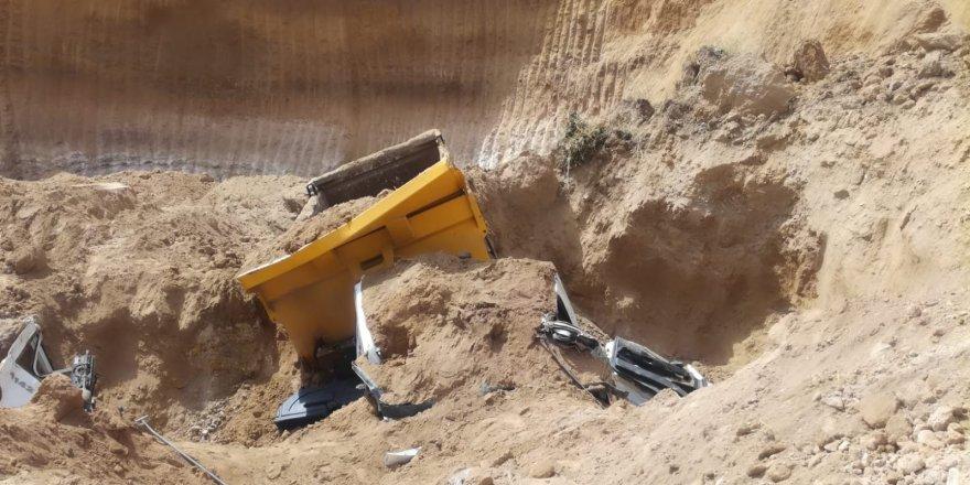 Konya'da Maden Sahasında Toprak Kayması