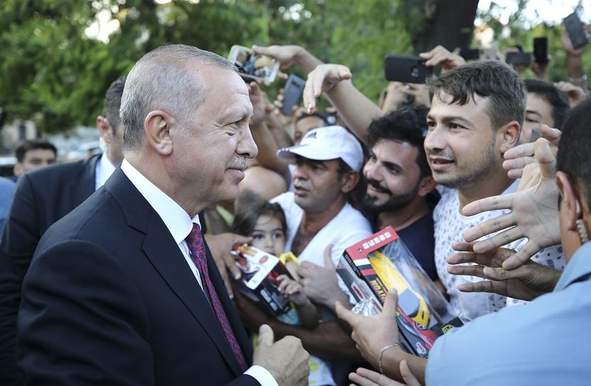 Cumhurbaşkanı Erdoğan Sultanahmet'te