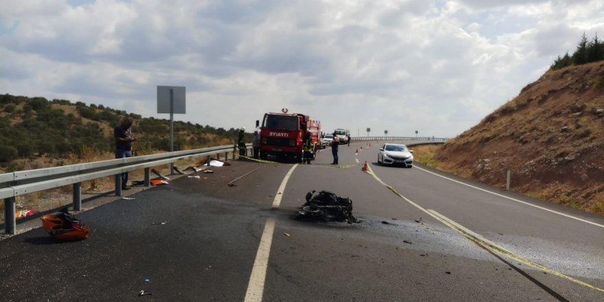 Konya'da Motosiklet Devrildi: 1 Ölü