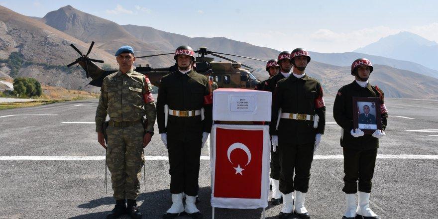 Konyalı Şehit Asker İçin ilk tören Hakkari'de yapıldı