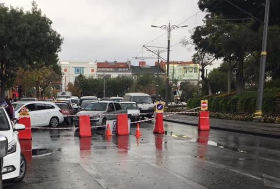 Alaaddin Bulvarı trafiğe kapatıldı