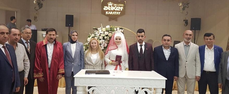 MHP Karatay İlçe Başkanı oğlu Emre'yi evlendirdi
