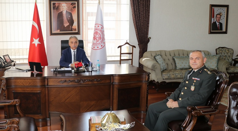 Albay Gökbulut'tan Vali Toprak'a ziyaret