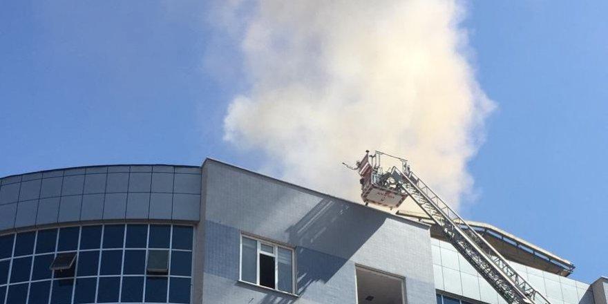 Konevi İş Merkezi'nde yangın