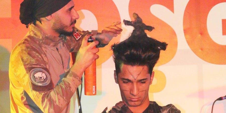 Semazen şeklinde saç modeli yaptılar