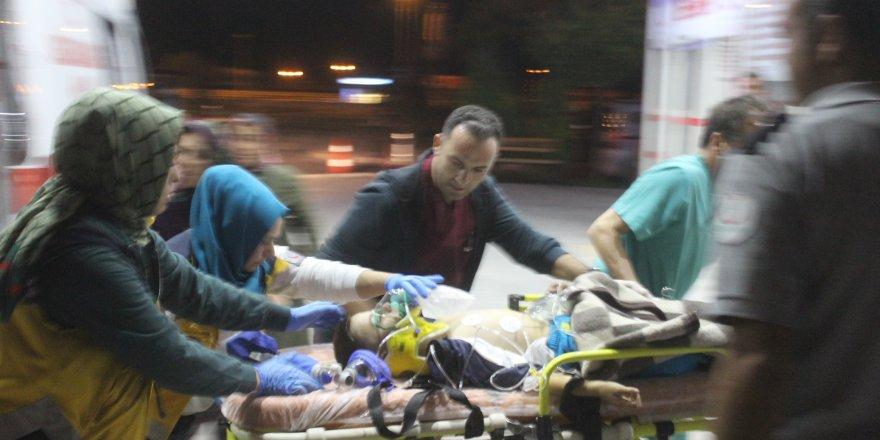 Konya'daki kazada aynı aileden 5 kişi yaralandı