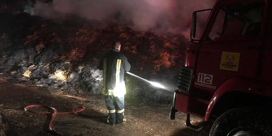 Konya'da Çiftlikte Yangın