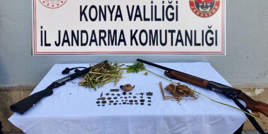 Konya'da Tarihi Eser Ve Uyuşturucu Operasyonu