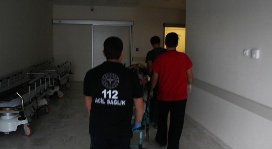 Konya'da inşaatın 4. katından düşen işçi yaralandı