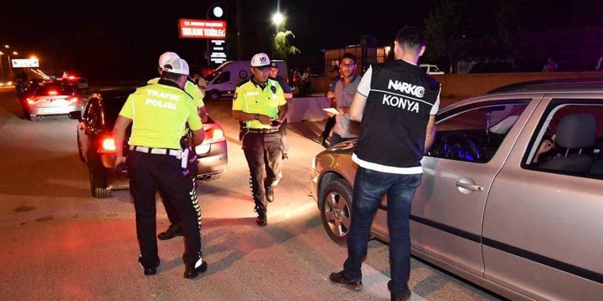 Konya'da uyuşturucu etkisi altında ve alkollü araç kullananlara yönelik denet
