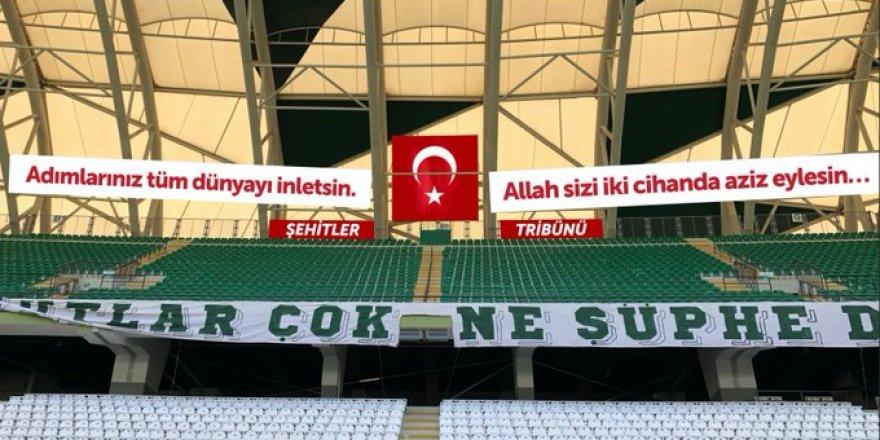 """Konya Büyükşehir Belediye Stadı'na """"Şehitler Tribünü"""""""