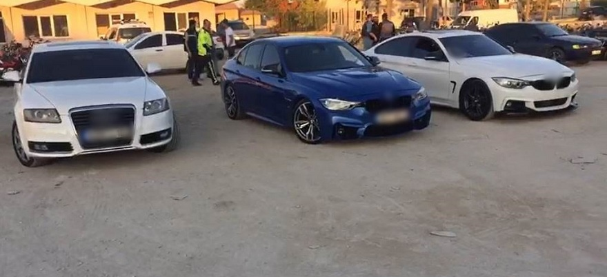 Konya'da düğün konvoyundaki driftçilere 11 bin 92 lira ceza