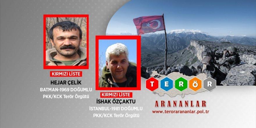 Kırmızı Listedeki 2 Terörist Etkisiz Hale Getirildi