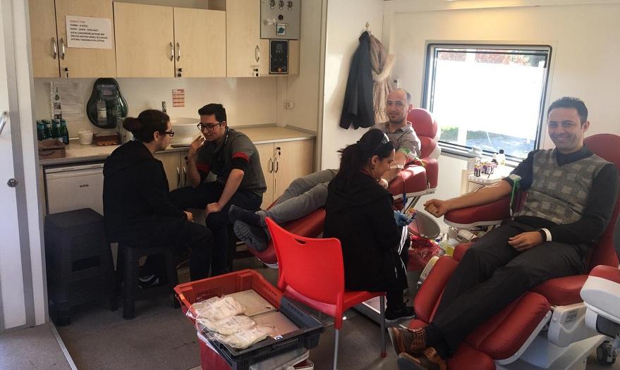MEDAŞ çalışanlarından kan bağışı