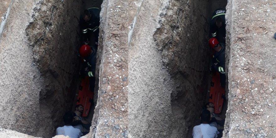 Meram'da engelli vatandaş çukura düştü