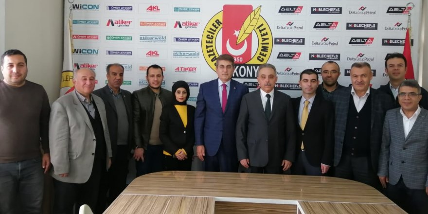 Vali Toprak'tan Konya Gazeteciler Cemiyeti'ne ziyaret
