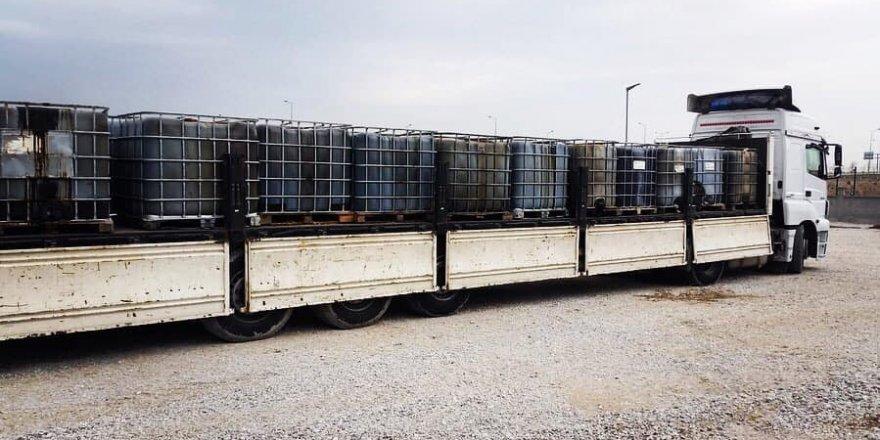 Konya'da durdurulan tırlardan 54 bin litre kaçak akaryakıt çıktı
