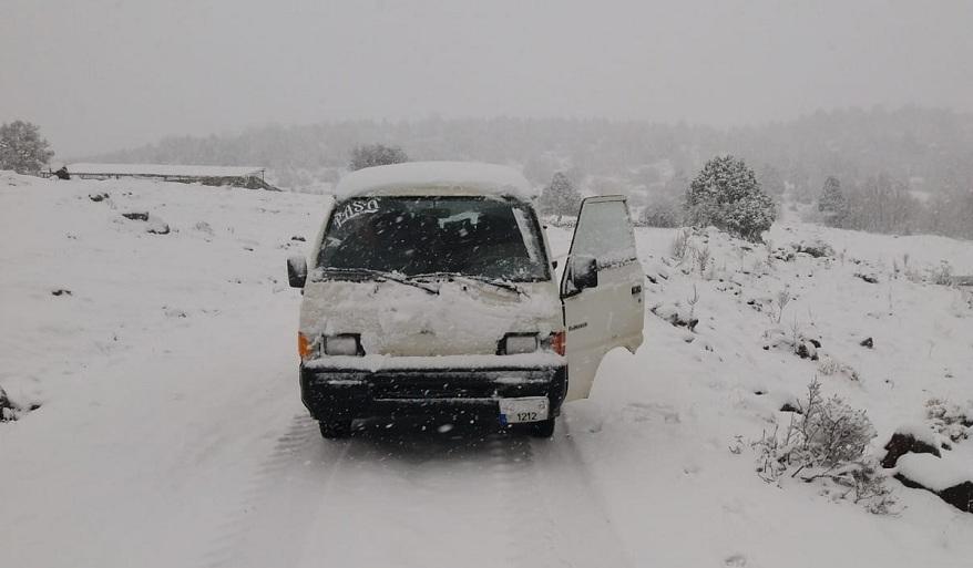 Konya'nın Yaylaları Kar Yağışı İle Beyaza Büründü