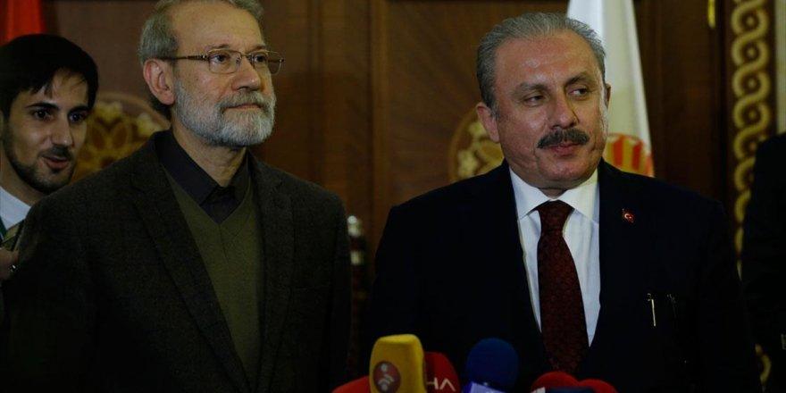 Tbmm Başkanı Şentop, İran Meclis Başkanı Laricani İle Görüştü