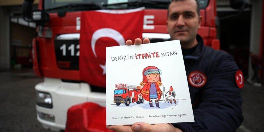 İtfaiye Eri Çocuklara Yangın Bilincini Aşılamak İçin Kitap Yazdı