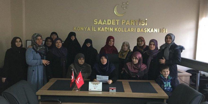 Saadetli kadınlardan 'Yerli Malları Haftası' açıklaması