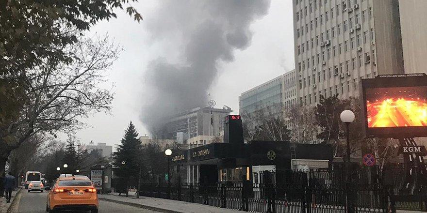 Dsi Genel Müdürlüğünde Çıkan Yangın Söndürüldü
