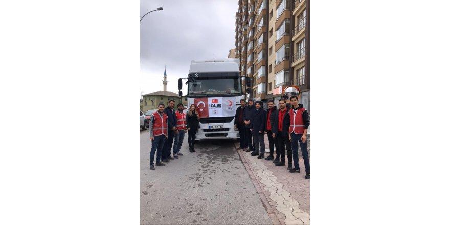Selçuklu Kızılay'dan İdlib'e yardım