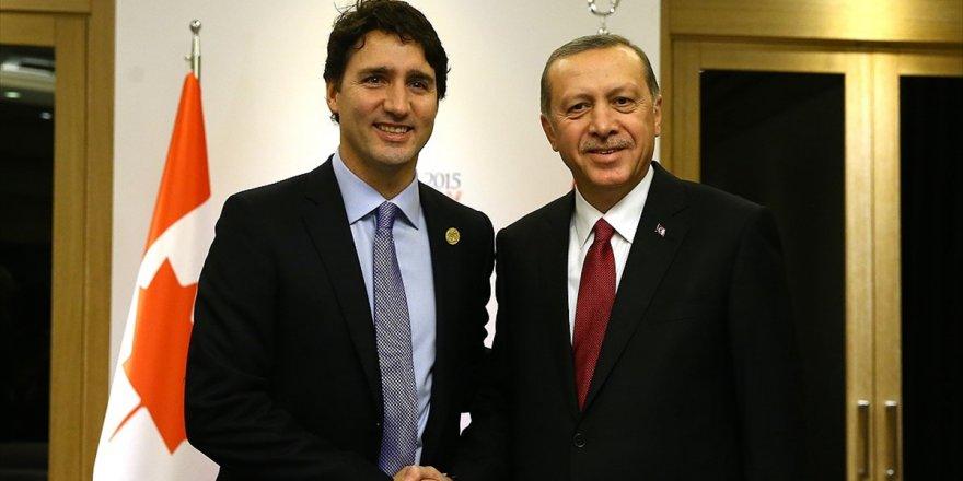 Cumhurbaşkanı Erdoğan, Kanada Başbakanı Trudeau İle Görüştü