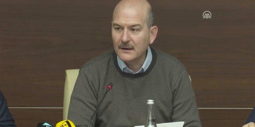 İçişleri Bakanı Soylu: Elazığ'da Şu Ana Kadar 45 Barınma Alanı Belirlendi