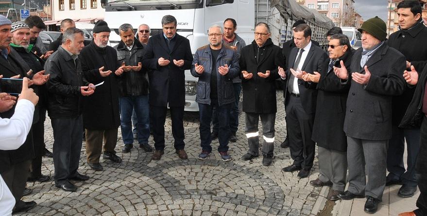 Akşehir'den İdlib'e yardım tırı