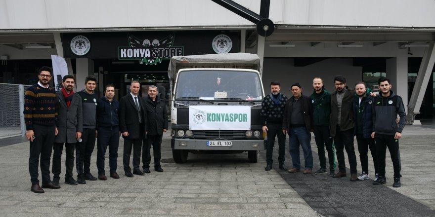 Konyaspor'un yardımları Elazığ'a gönderildi