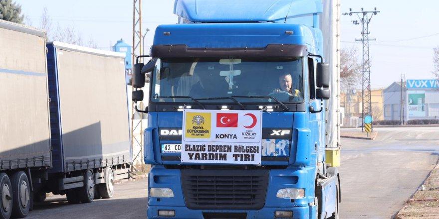 Konya Büyükşehir'den deprem bölgesine destek devam ediyor