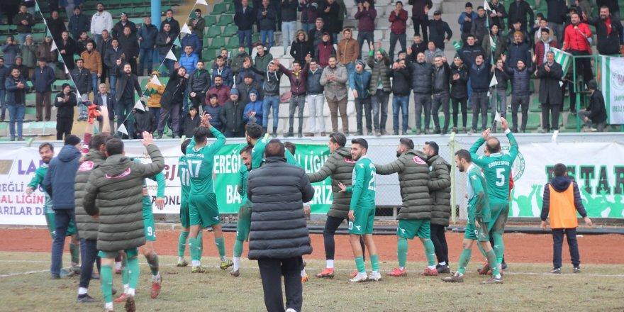 Ereğlispor'da galibiyet sevinci