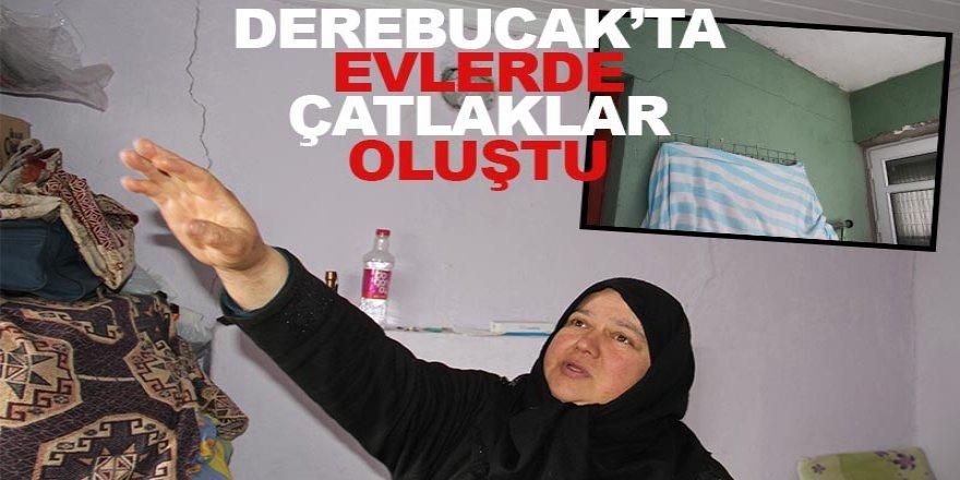 Konya'daki depremde duvarlarında çatlaklar oluşan evlerde inceleme yapıldı