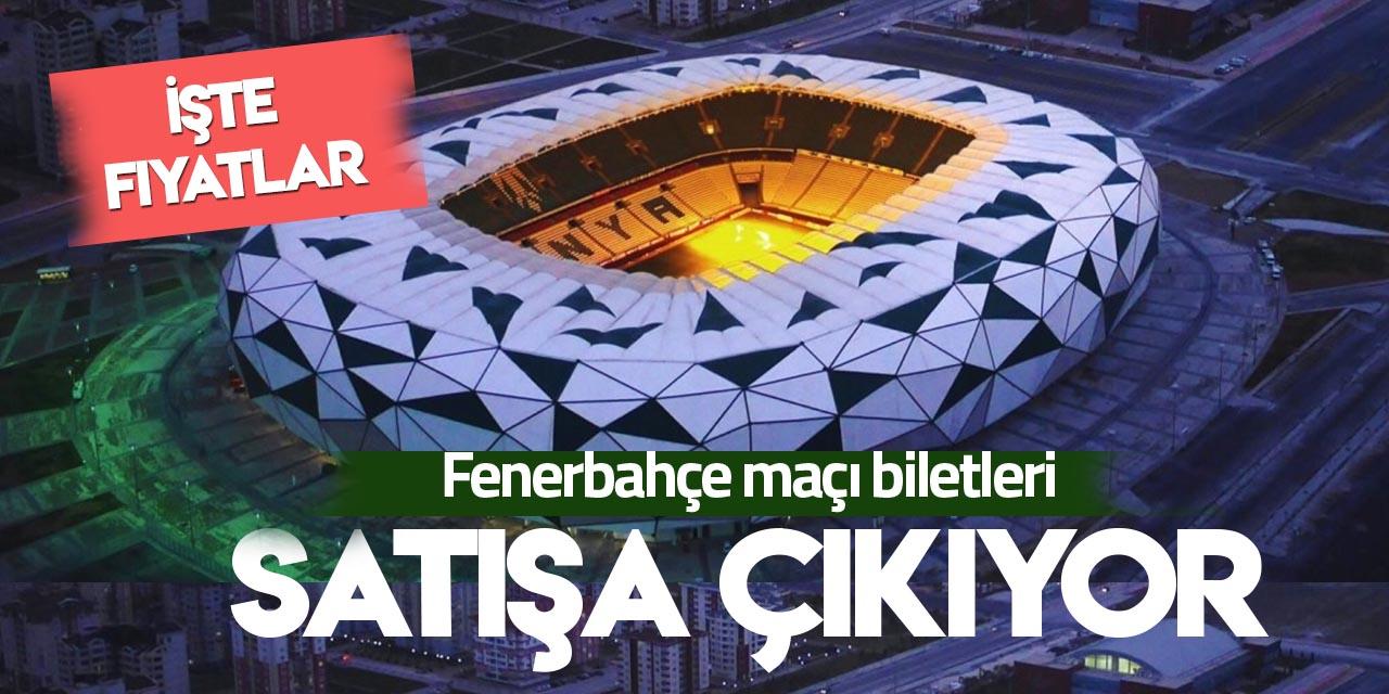 Konyaspor-Fenerbahçe maçı biletleri satışa çıkıyor