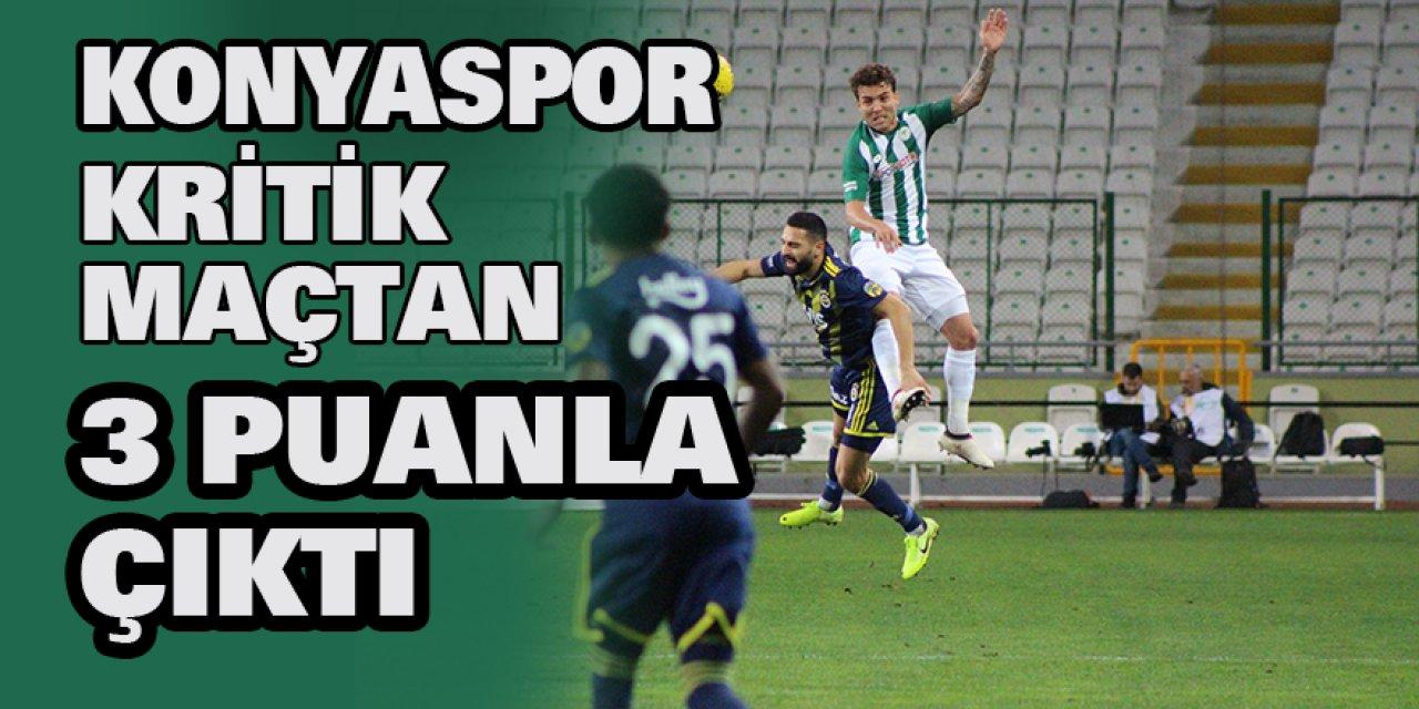 Konyaspor kritik maçtan 3 puanla çıktı