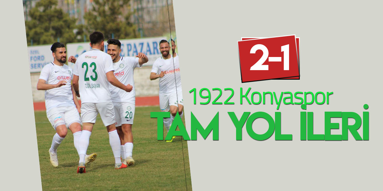 1922 Konyaspor tam yol ileri: 2-1