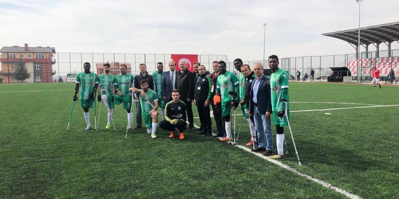 Konya'da Ampute takımlarına saha