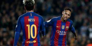 Neymar, Messi'yi Geçerek İlk Kez Zirvede Yer Aldı