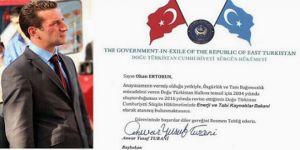 Doğu Türkistan Sürgün Hükümeti'ne atama