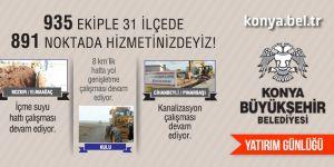Büyükşehir Belediyesi yatırım günlüğü