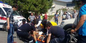 Meram Yaka yolunda feci kaza