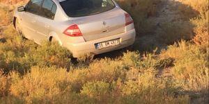 Kontrolden çıkan otomobil tarlaya girdi: 2 yaralı