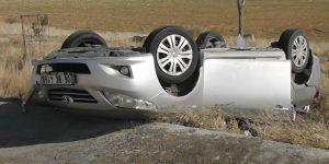 Konya'da otomobil şarampole takla attı: 4 yaralı