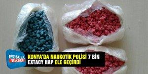 Konya'da Narkotik Polisi 7 bin extacy hap ele geçirdi