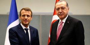 Erdoğan İle Macron 'Zeytin Dalı Harekatı'nı Görüştü