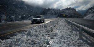 Konya-Antalya Karayolunda karlar eridi
