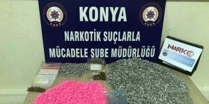 Yılbaşında satış planı yapan torbacılara Konya Narkotikten darbe