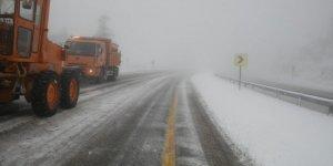 Konya-Antalya Kara Yolunda Kar Yağışı