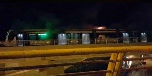 Konya'da tramvay yangını